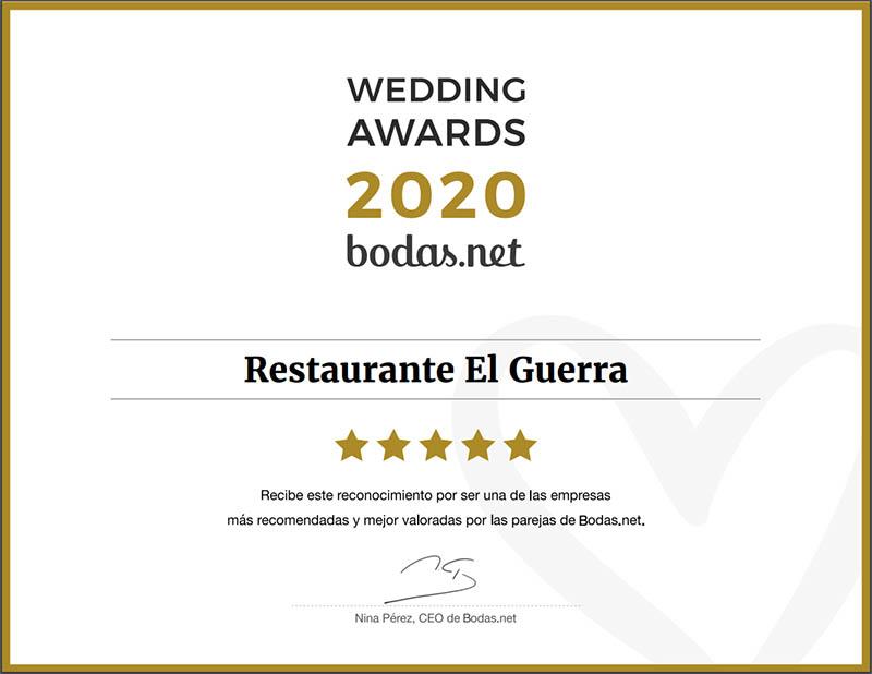 restaurante bodas granada calidad premio